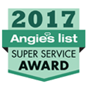 Angie's List Super Service Award 2017 badge for Fairfax Animal Hospital